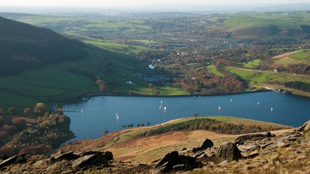 Dovestone Reservoir is a great spot for orienteering, sailing and rock-climbing