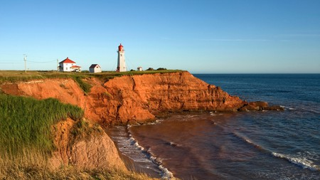 Take time to visit the lighthouse on l´Anse-a-la-Cabane, in the Gulf of St Lawrence, Quebec