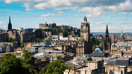 Enjoy the views over the Edinburgh city skyline from Calton Hill