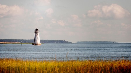 Cockspur Island Lighthouse is only a 20-minute drive from downtown Savannah