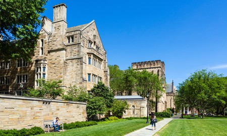 The pristine Cross Campus at Yale University