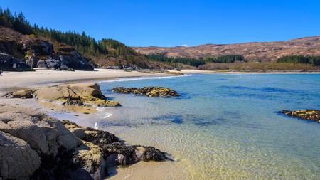 Singing Sands beach (Camas an Lighe) in Scotland