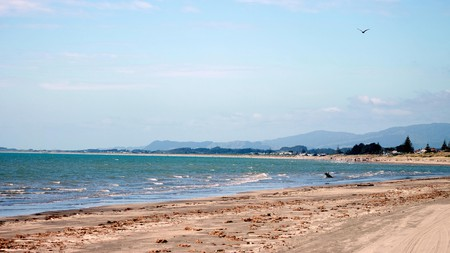 The Kāpiti Coast near Wellington boasts a long stretch of spectacular beaches protected from westerly winds