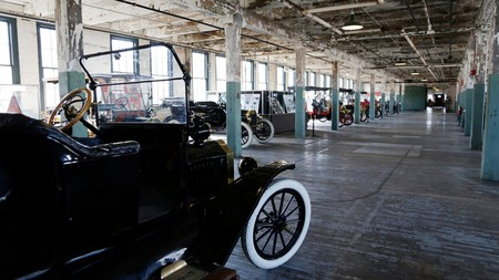 A 1915 Ford Model T at the Ford Piquette Avenue Plant in Detroit