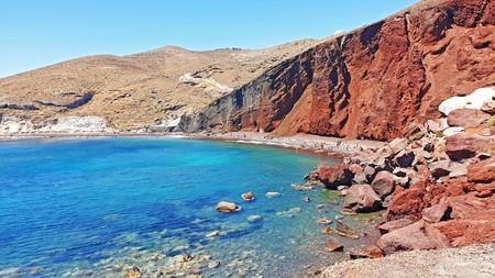 The Red Beach at Santorini island, Greece.