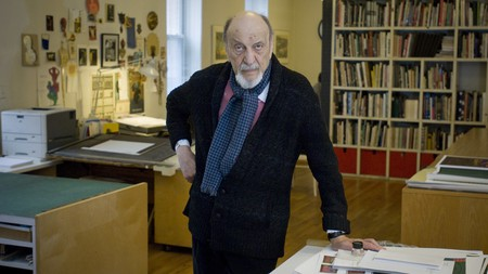 Graphic designer Milton Glaser, whose work as a graphic designer had a huge impact on visual culture around the globe