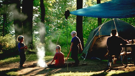 Michigan is full of stunning outdoor spots to camp with the family