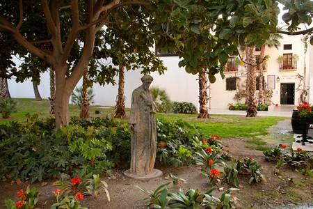 Jardines Museo Picasso  Malaga Costa del Sol Andalucia Espana Gardens Picasso Museum in Malaga Andalusia Spain