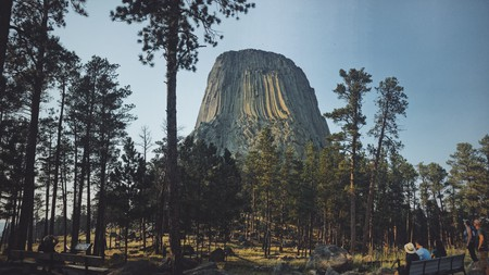 The stunning view of the Devils Tower