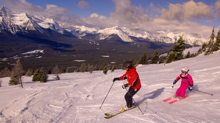 Lake Louise Ski Resort is Banff's largest ski resort