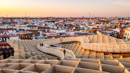 The Metropol Parasol in Seville offers incredible, sweeping views of the city