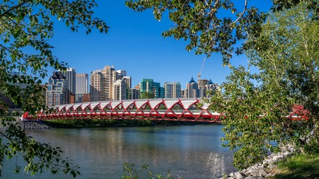 Calgary's Peace Bridge is a self-supporting structure