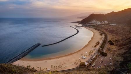 The sand lining the Playa de las Teresitas' shores is from the Sahara Desert