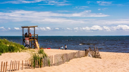 Hammonasset Beach State Park in Madison, Connecticut, is just one of the many beautiful beaches in the state