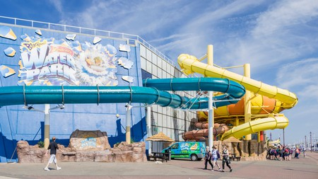 The Sandcastle is one of several water parks near Liverpool