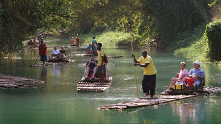 Some of the best things to do in Jamaica include rafting on the Martha Brae River in Falmouth