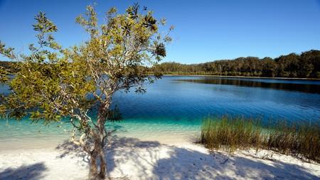 Lake McKenzie on Fraser Island Australia