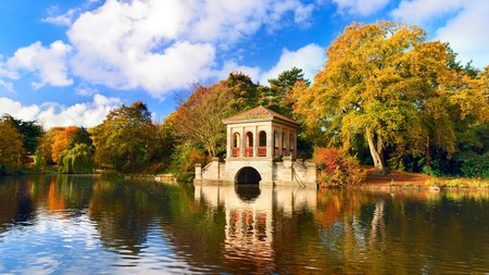 Green spaces like Birkenhead Park abound in and around Liverpool