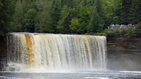 The larger Upper Falls in Tahquamenon Falls State Park