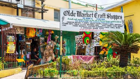 Traditional craft market in Ocho Rios, Jamaica