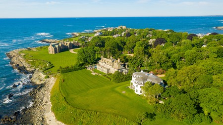 The Newport Cliff Walk in Rhode Island is among the best day trips from Connecticut