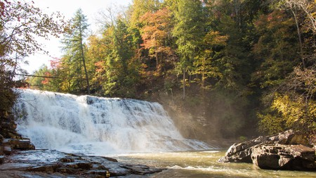 USA, Tennessee. Cane Creek Cascades in Fall Creek Falls State Park