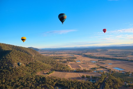 Try hot-air ballooning in the Hunter Valley