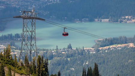 A key attraction, the Peak 2 Peak Gondola in Whistler, Canada, is the world's largest and highest lift