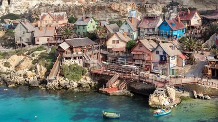 Originally built as a film set, Popeye Village is now a tourist attraction in Malta