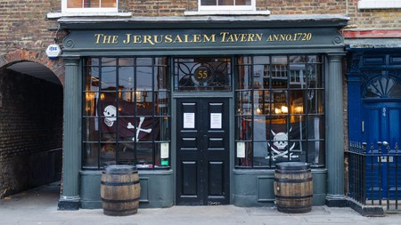 The Jerusalem Tavern sits inside an 18th-century building brimming with old-world charm