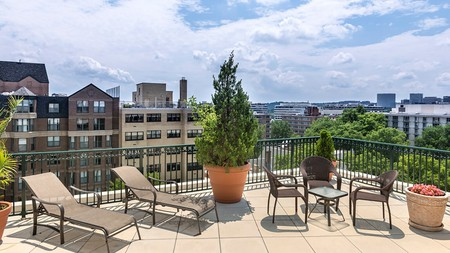 Some Washington DC Airbnbs have great amenities, such as rooftop terraces