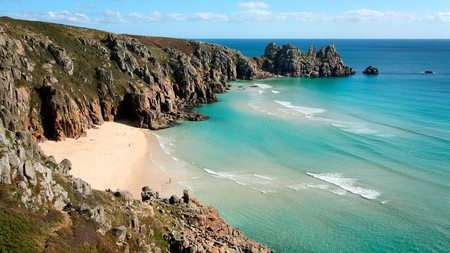 Porthcurno is one of the top beach spots along Cornwall's extensive coastline