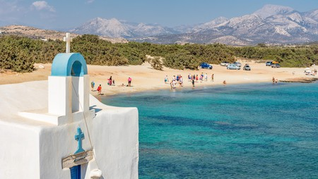 Turquoise coves, white sand and cedar forests make Aliko beach on Naxos a Grecian paradise