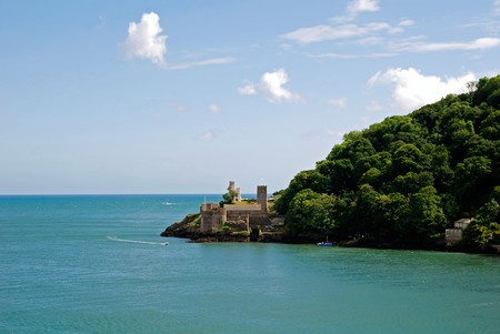 dartmouth castle at the mouth of the river dart,dartmouth,devon,uk. Image shot 06/2009. Exact date unknown.