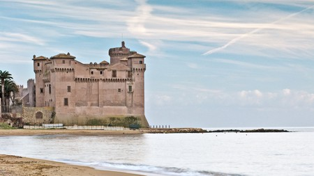 Santa Severa features a castle and is one of the best beaches near Rome