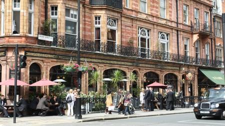 The area around Hyde Park, London, is home to many restaurants, with something to suit a variety of tastes