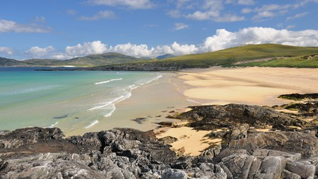 Traigh Iar is on the Isle of Harris in Scotland's remote Outer Hebrides