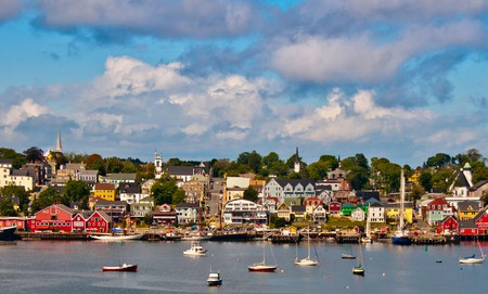 Admire the colorful historic buildings of Lunenburg's Old Town, Nova Scotia, Canada
