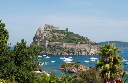 The best castles near Naples include Castello Aragonese on the island of Ischia