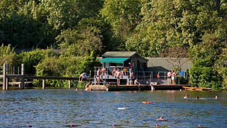When the weather heats up, Londoners opt for a swim in the city's wilderness