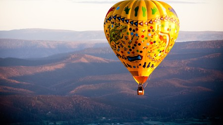 A hot air balloon is a great way to take in the sheer scale and beauty of the Yarra Valley