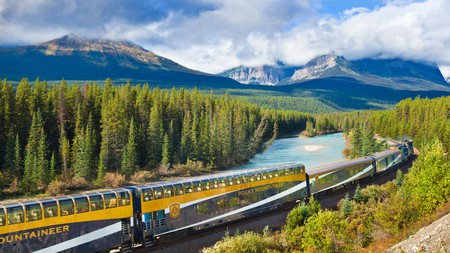 The Rocky Mountaineer offers an exhilarating train experience, taking you through the Rockies from Banff National Park to Vancouver