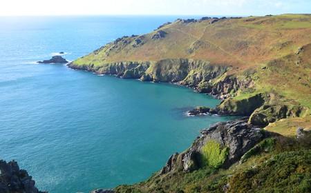 England, Devon, salcombe, cliffs, coast, sea, waves, rocks, cliffs, moor, starehole bay, Great Britain, Europe,