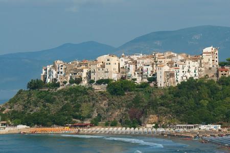 View of Sperlonga,  Lazio, Italy. Image shot 07/2014. Exact date unknown.