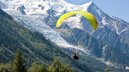 For breathtakingly beautiful views, go paragliding in Switzerland