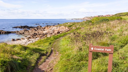 Enjoy historic sites, wide beaches and cosy pubs along the Fife Coastal Path in Scotland