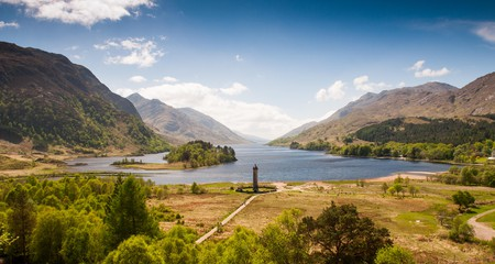 Loch Shiel is one of many beautiful spots  in the Scottish Highlands for fishing and wild swimming
