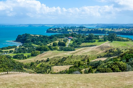 A beautiful Shakespear Bay which is located in the Shakespear Regional Park, Auckland Region, New Zealand