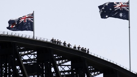 Climbing Sydney harbour bridge