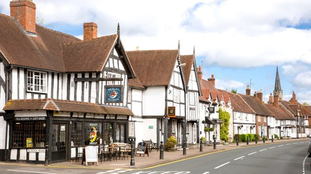 Timber-framed buildings on Henley-in-Arden high street are a testament to its architectural heritage